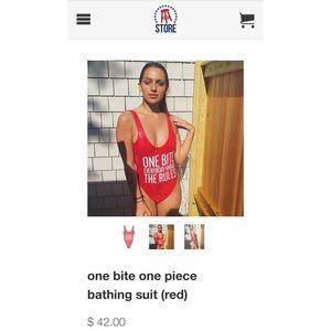5020c60238 Barstool Sports Swim - Barstool Sports 'One Bite' Bathing Suit